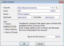 IT Service Contract Management in CommitCRM software